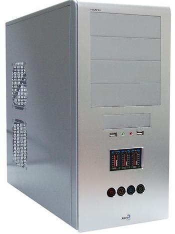 AEROCOOL I-Curve+ SV, ATX bez zdroje, Stříbrná, USB2, Audio - ID013000