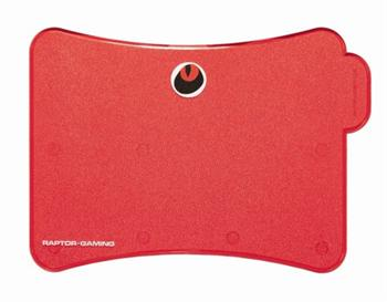 Podložka RAPTOR-GAMING P5 TransRed, High-Sense Pad (310x240x3mm) - SFT01540