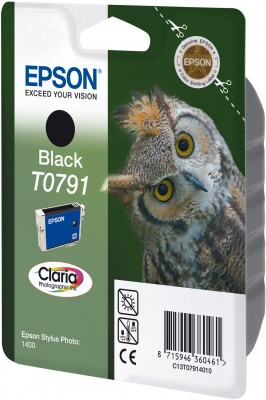 Epson ink čer Stylus Photo R1400 - Black - C13T07914010