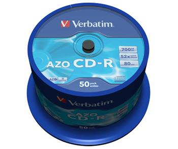 CD-R 80 min. Verbatim DL+ Crystal AZO spindl po 50ks - 43343