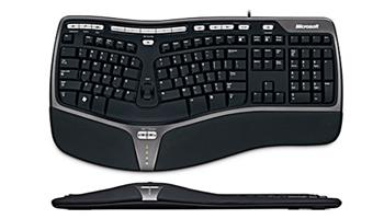 Klávesnice Microsoft Natural Ergo Keyboard 4000 Win32 USB Czech CD Black - B2M-00023
