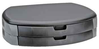 Stojan pod monitor, 2 x zásuvka A4, 450x350mm, černý - KF1260BK