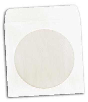 Papírová pošetka na CD/DVD včetně okénka (100ks v balení) - Obaly na CD