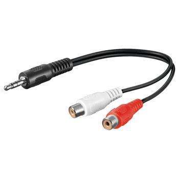 PremiumCord Kabel Jack 3.5mm-2xCINCH M/F 20cm - kjackcinf02