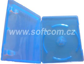 Blu-Ray DVD box for 1 disc, 12 mm spine, super clear blue, with booklet - Blu-Ray box