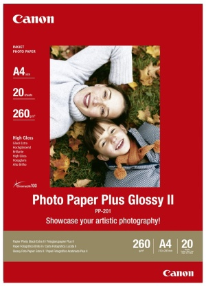 Canon PP-201A4 Photo Paper Plus Glossy A4, 20 listů, 275g/m2, lesk - 2311B019