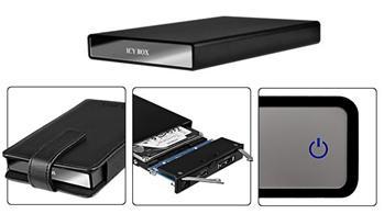 "Raidsonic Icybox IB-290StUS-B ext.Box SATA 2.5"", USB, eSATA, Černá - IB-290StUS-B"