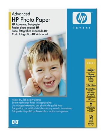 HP Advanced Photo Paper, Gloss, 13x18cm, 25ks, 250g/m2 - Q8696A