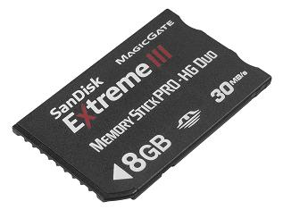 SanDisk 8 GB Memory Stick PRO-HG Duo Extreme III, 30MB/s - 90786