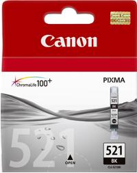 Canon ink. náplň CLI-521Bk černá - 2933B001