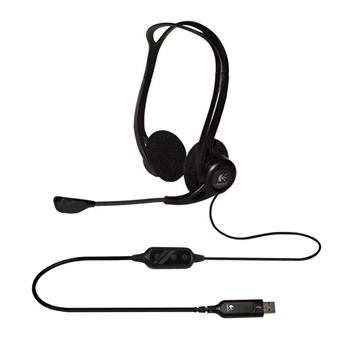 Sluchátka s mikrofonem Logitech PC 960, USB - 981-000100