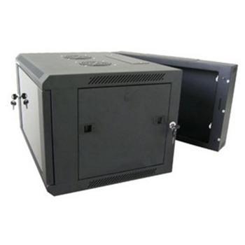 """XtendLan 19"""" rozvaděč 6U/600x550,na zeď, dvoudílný, skleněné dveře - WD-6U-65-BLACK"""