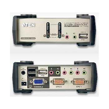 Aten CS-1732B 2-port KVMP USB+PS/2, usb hub, audio, 1.2m kabely - CS-1732B
