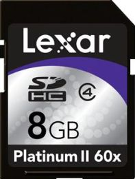 Lexar SecureDigital High-Capacity karta 8GB Class 4 Platinum II Series - LSD8GBBSBEU060/SD8GB-60-