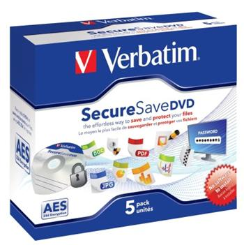 DVD-R Verbatim 4,7 GB 16x Secure save jewel box, 5ks/pack (43706) - 43706