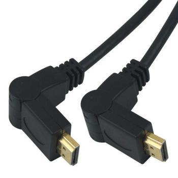 PremiumCord Kabel HDMI A - HDMI A M/M 10m, otočné zlacené konektory,HDMI 1.3b - kphdmo10