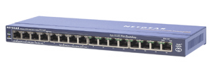 Netgear Switch 16x10/100 Port, 8xPoE Port - FS116PEU