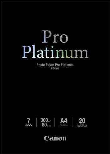 Canon PT-101 A4 Photo Paper Pro Platinum Glossy A4, 20 listů, 300g/m2, lesk - 2768B016
