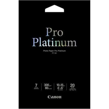 Canon PT-101 4x6 Photo Paper Pro Platinum Glossy 10x15cm, 20 listů, 300g/m2, lesk - 2768B013