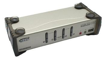 Aten CS-1734B 4-port KVMP USB+PS/2, usb hub, audio, 1.2m kabely - CS-1734B
