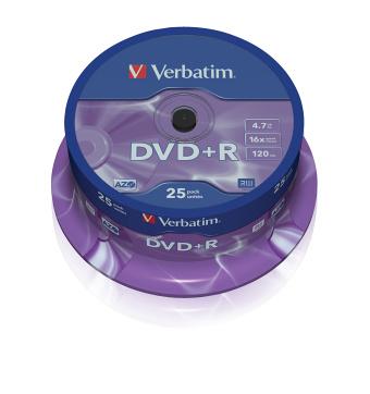 DVD+R Verbatim 16x spindl po 25ks - 43500