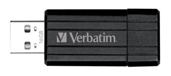 VERBATIM 16GB USB Flash 2.0 PIN STRIPE černý P-blist - 49063