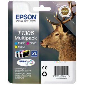 Epson ink bar Stylus SX525WD/BX305F/BX625FWD T130 - multipack CMY - C13T13064010