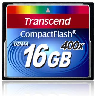 Transcend Compact Flash karta 16GB 400x - TS16GCF400