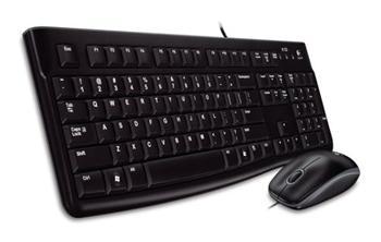 Set Logitech Desktop MK120, drátový, USB, CZ - 920-002536
