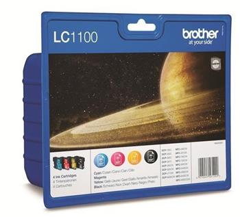BROTHER LC-1100-Bk,C,M,Y sada náplní pro DCP-6690 - LC1100VALBP