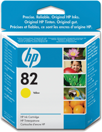HP No. 82 Yellow Ink Cart pro DSJ 510, 28 ml, CH568A - CH568A