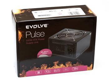 Zdroj Evolveo Pulse 550W ATX12V v2.2, 12cm ventilátor - EP550PP12R